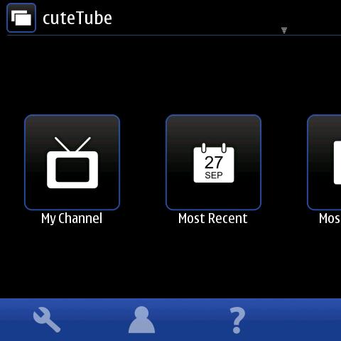 Démonstration vidéo de CuteTube-QML 1.0 sur le Nokia N900