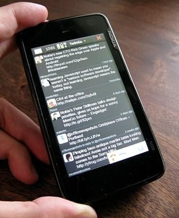 Démonstration vidéo de TwimGo sur le Nokia N900.