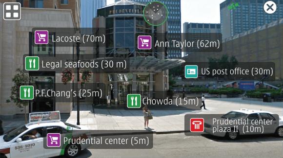 Nokia Live View, le navigateur mobile à réalité augmentée