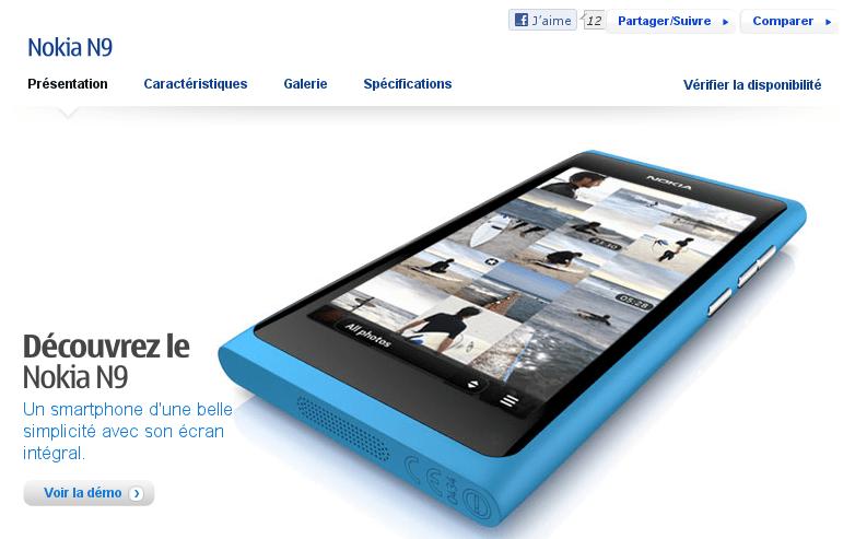 Nokia Belgique annonce le Nokia N9
