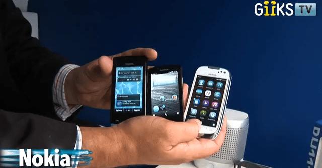 «Giiks TV» s'intéresse aux nouveaux smartphones Nokia sous Belle ainsi que le N9… qui ne sera pas vendu en France