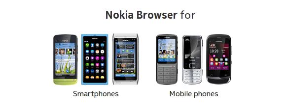 Nouveau site sur les navigateurs internet Nokia pour téléphones et smartphones
