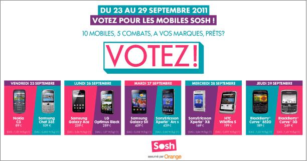 Votez pour le Nokia C3 avec Orange SOSH