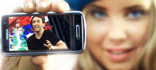 Publicité Nokia sur le ClearBlack Display