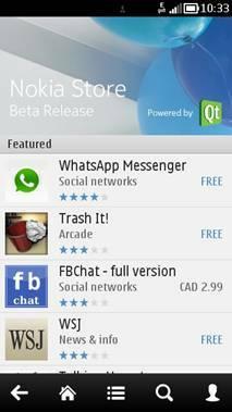 Le nouveau Nokia Store disponible en test sur Nokia BetaLabs