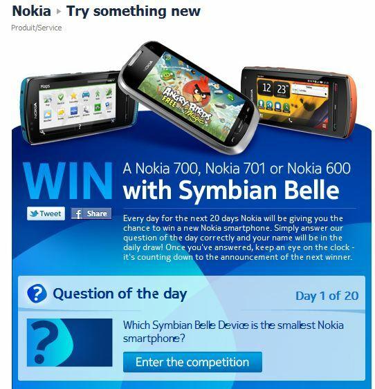 Vous avez 20 essais pour gagner un mobile Nokia sous Belle