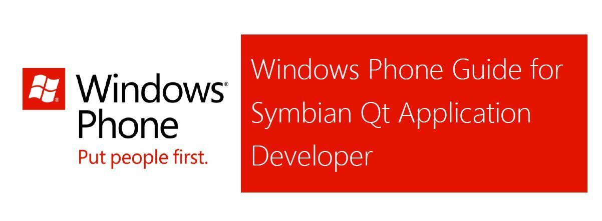 Le guide Windows Phone 7 pour les développeurs Qt !
