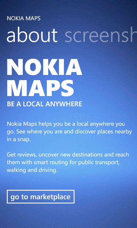 Nokia Maps sera disponible sur WindowsPhone