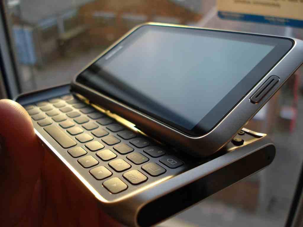 Le clavier du Nokia E7