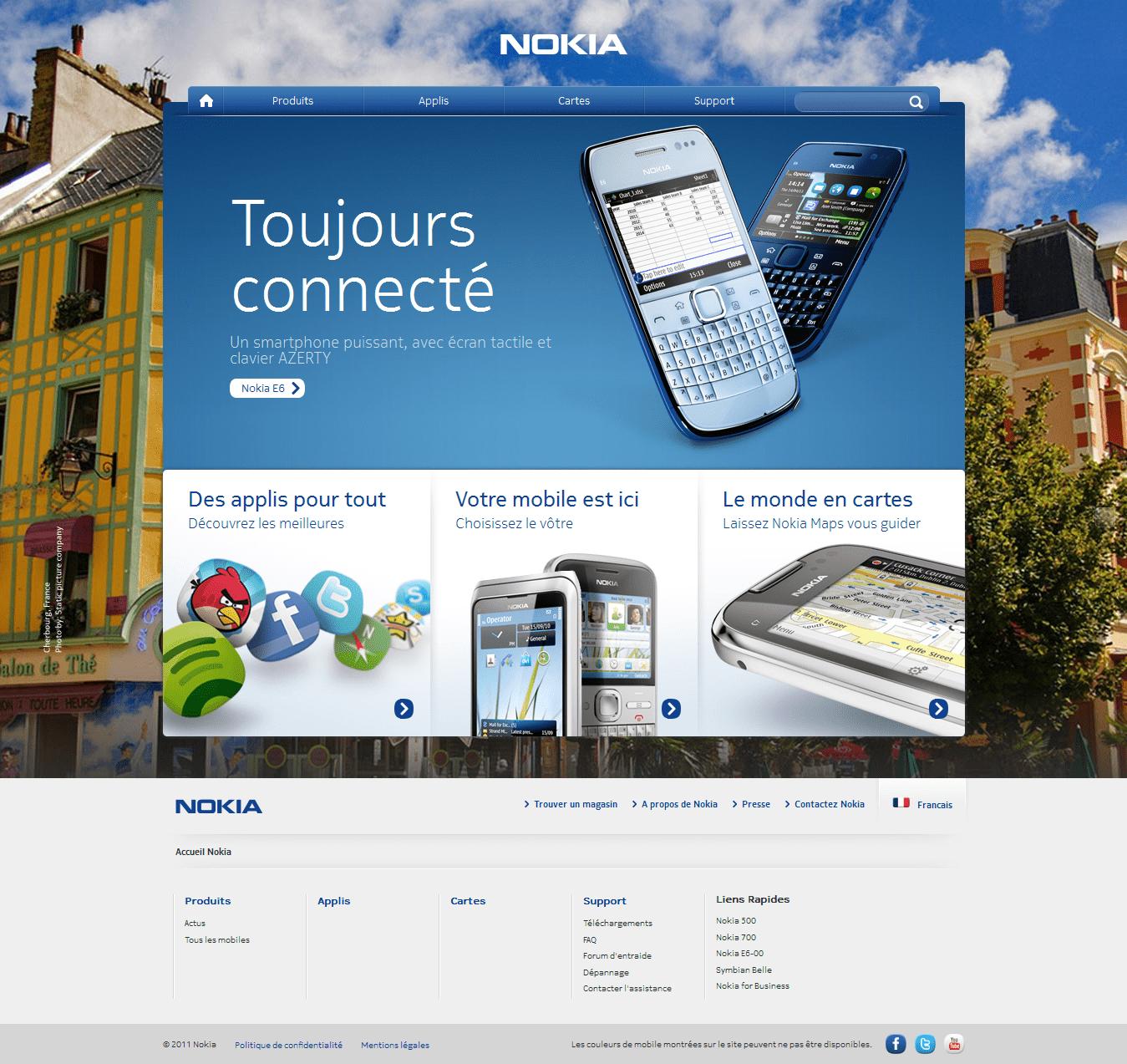Nokia se paie un nouveau site Internet