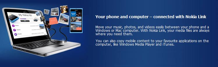 Nokia link pour Windows et Mac