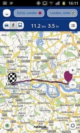 Nokia Maps sous Android et iOS