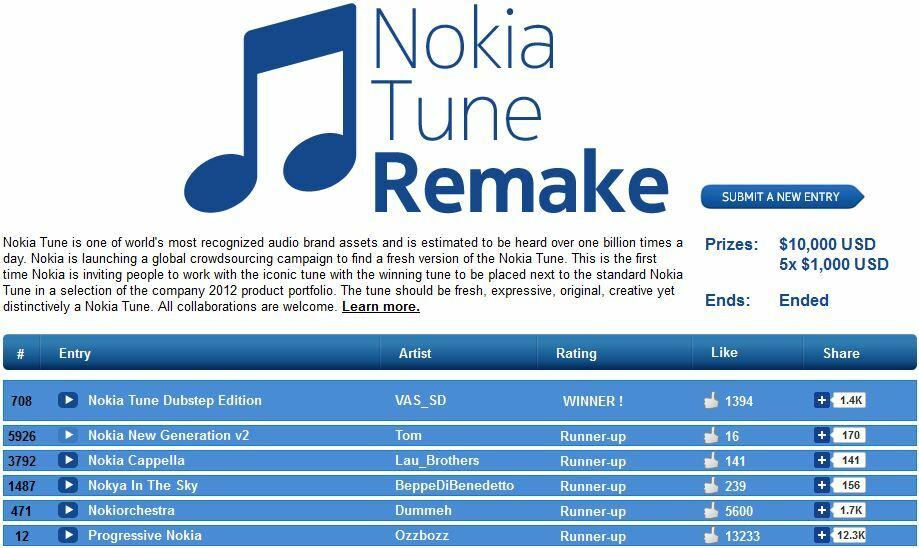 Le gagnant de Nokia Tune remake