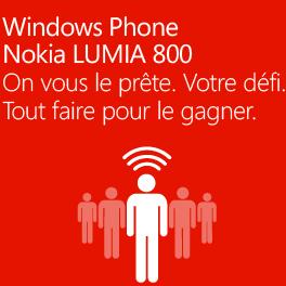 Testez et gagnez peut-être le Nokia Lumia 800