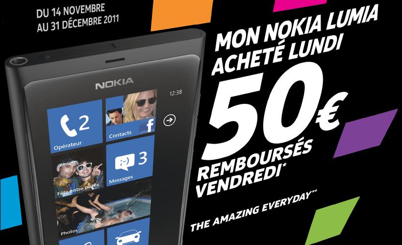 Achetez le Nokia Lumia 800 et Nokia vous rembourse 50€