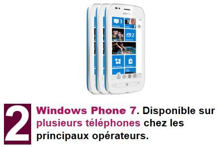 Windows Phone N°2 au classement «les coups de coeur de la technologie»