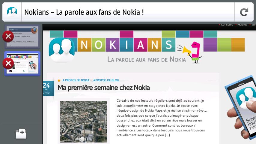 Firefox disponible pour le Nokia N9 / N950