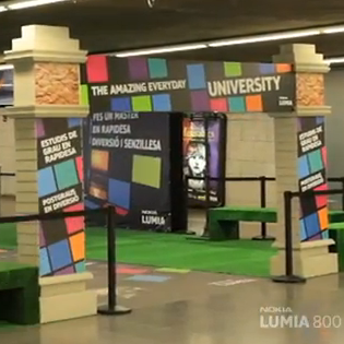Le Nokia Lumia 800 s'invite dans le métro de Barcelone
