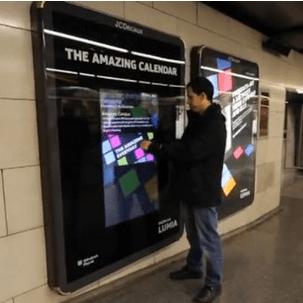 Des panneaux interactifs Lumia Windows Phone en Espagne