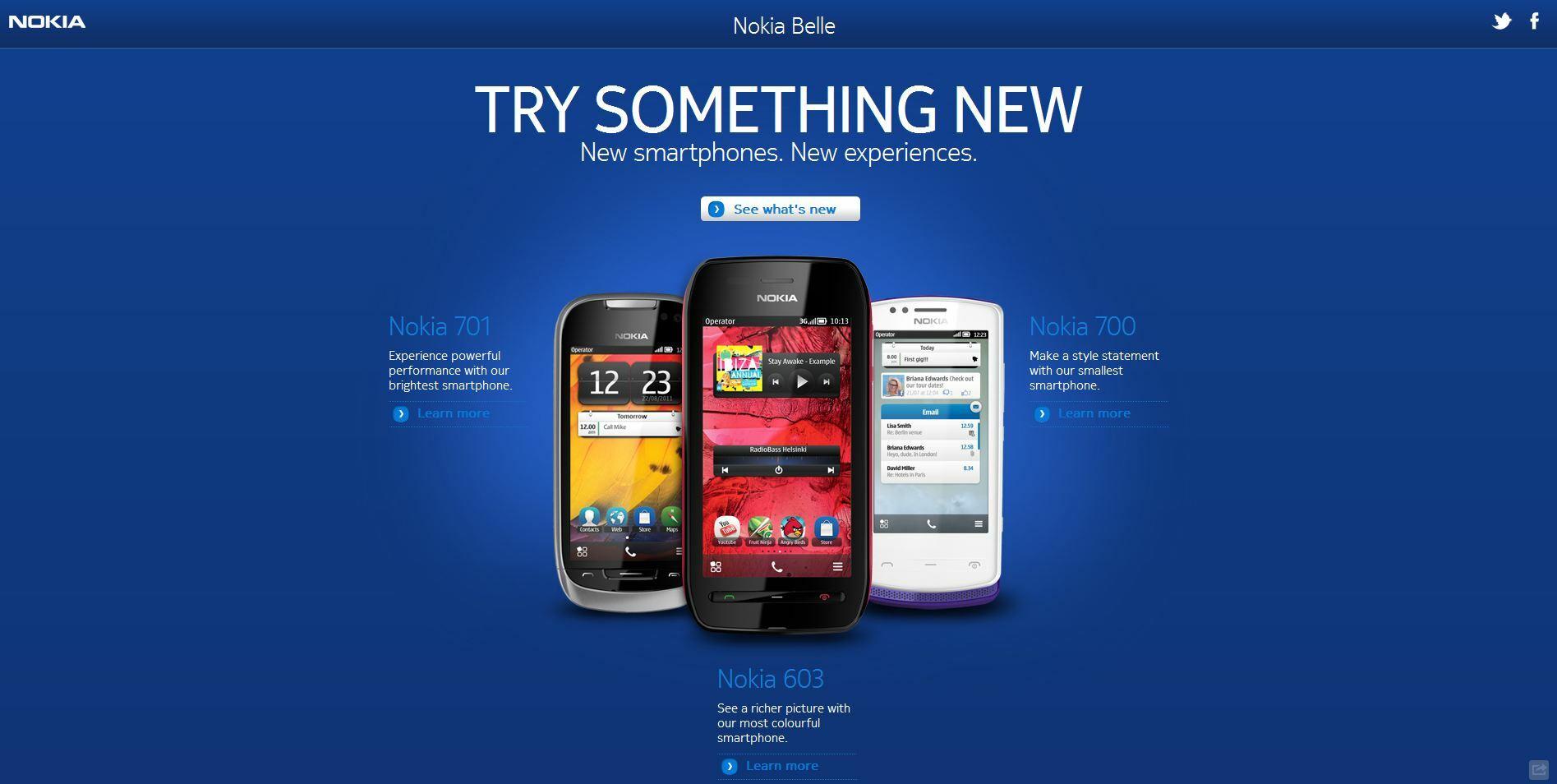 Mise à jour Nokia Belle pour le 700, 701 et 603