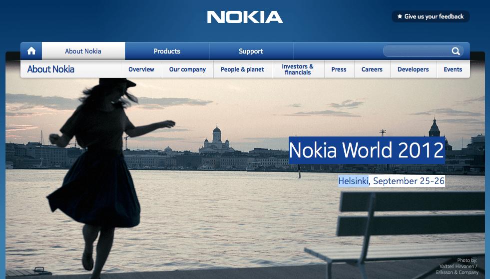 Le Nokia World 2012 sera à Helsinki !
