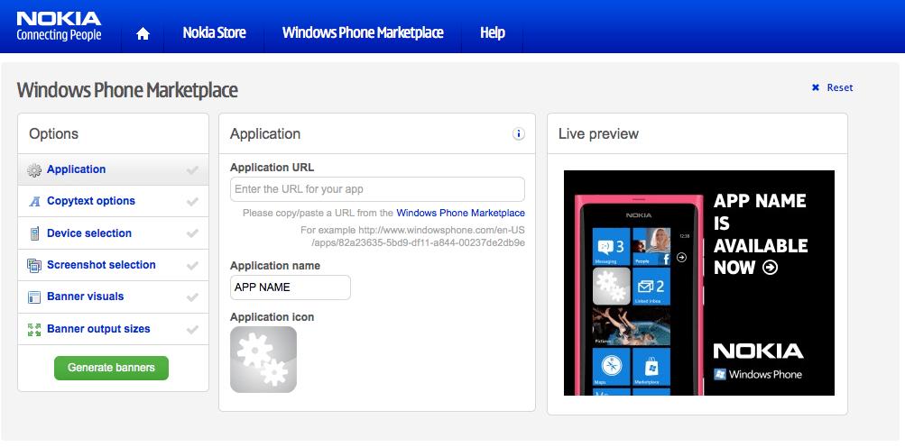 Générez des banières pour promouvoir votre application Windows Phone