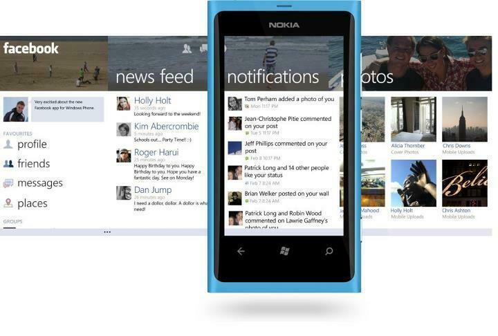 Mise à jour de Facebook sur Windows Phone