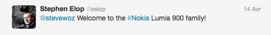 Steve Wozniak, le co-fondateur d'Apple s'achète un Lumia 900