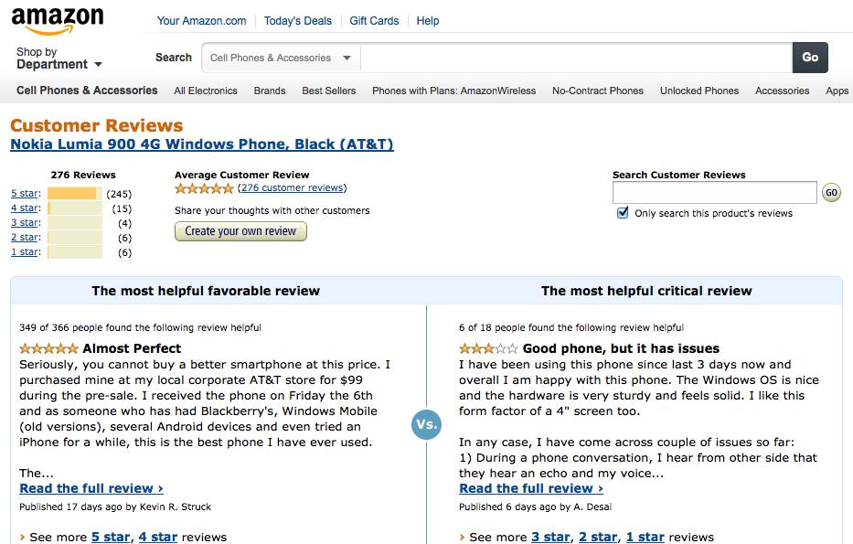 Le Lumia 900 plait beaucoup aux américains