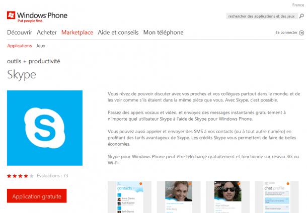 Version finale de Skype disponible sur Windows Phone