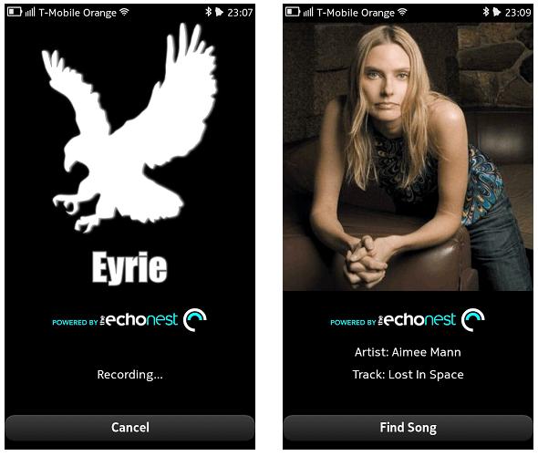 Eyrie, un client Shazam pour le Nokia N9 / N950