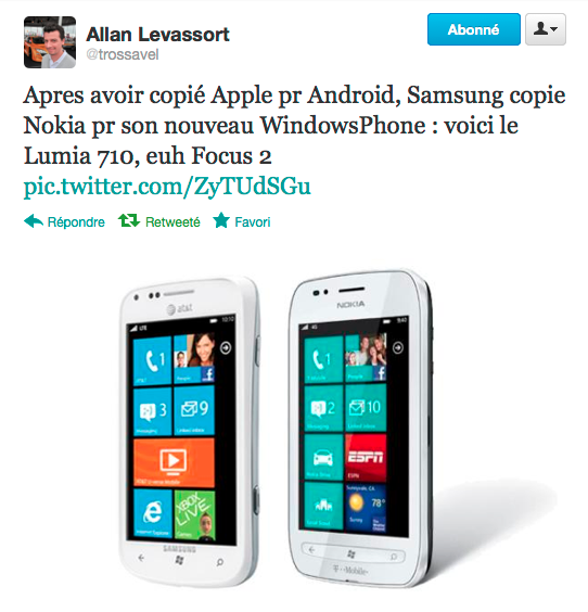 Samsung se met à copier la gamme Lumia