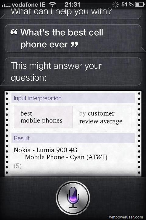 Apple recommande le Nokia Lumia 900