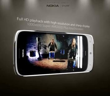 Concept Nokia Snow sous Windows Phone