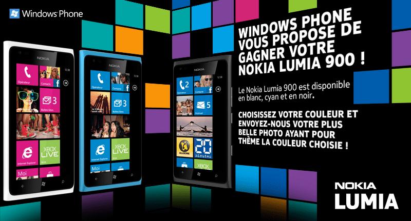 Microsoft vous offre un Nokia Lumia 900 #concours