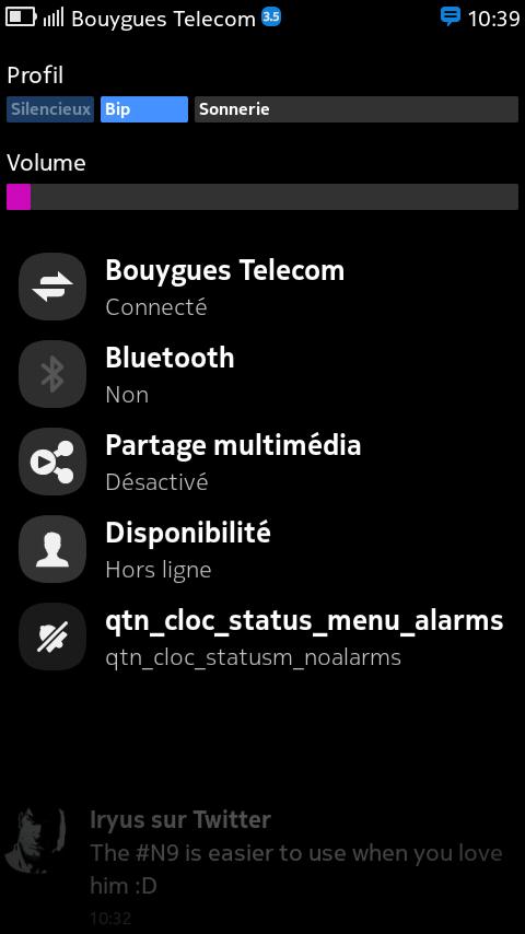 Tutoriel expert: ajouter le réglage de la luminosité à la barre de notification du N9