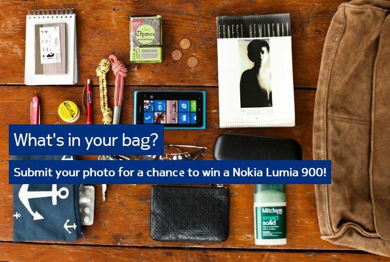Qu'est ce qu'il y a dans votre sac ? Peut-être bientôt un Lumia 900 ! #concours