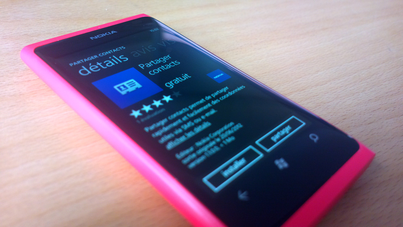 Partage de contacts disponible pour votre Lumia