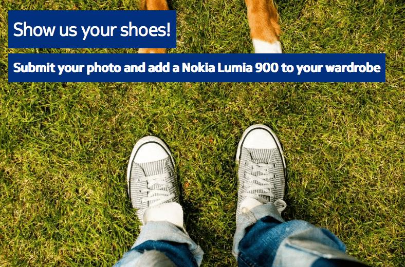 Envoyez une photo de vos chaussures pour tenter de gagner un Nokia Lumia 900 !