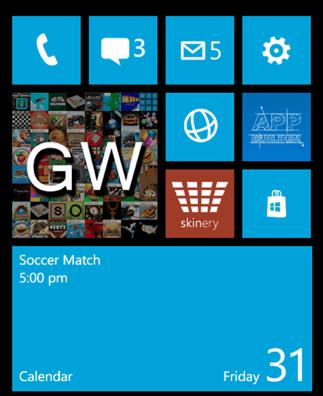 Démo de l'écran d'accueil Windows Phone 8 sur un Lumia 900