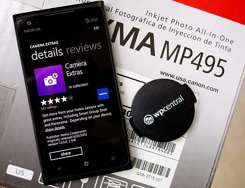Camera Extras dispo pour votre Lumia 900/800/710/610