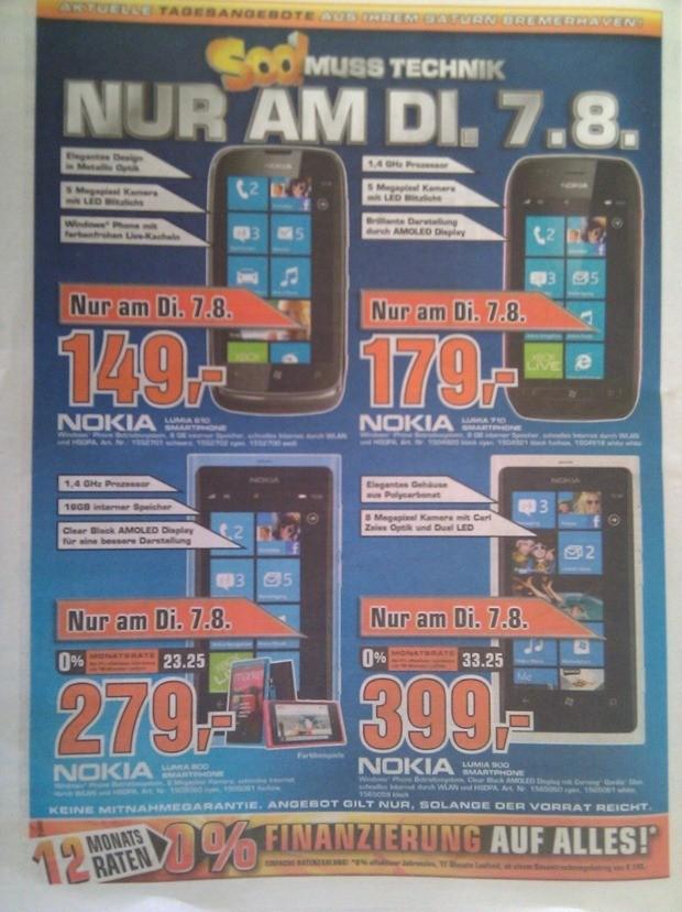 Des prix de folie sur la gamme Lumia en Allemagne
