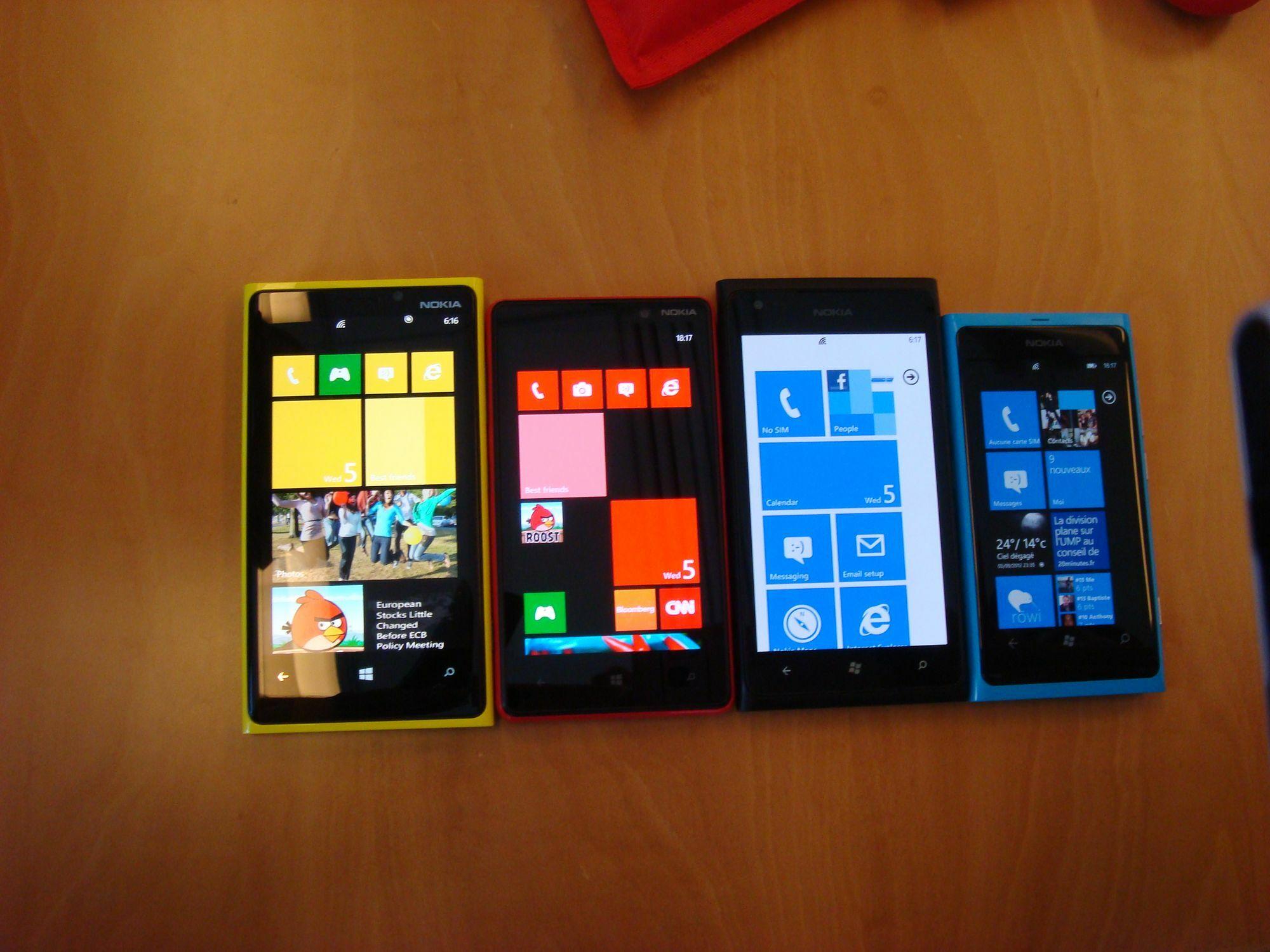 le Lumia 820 et le Lumia 920 pour le mois de novembre?