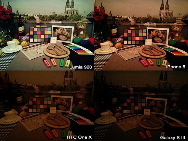 Lumia 920 vs iPhone 5 vs HTC One X vs Galaxy S3