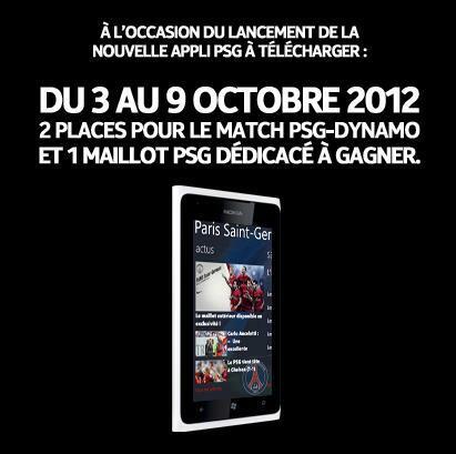 Concours Nokia France : Gagnez deux places pour le match PSG – Dinamo et un maillot du PSG dédicacé
