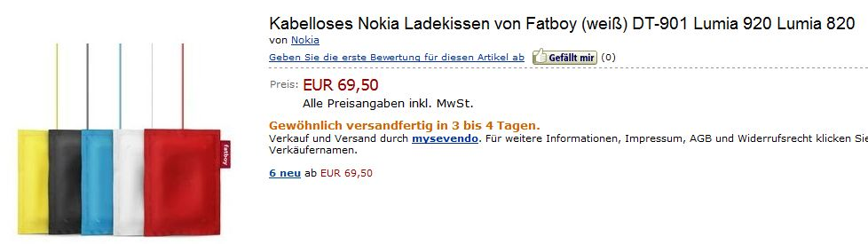 Le chargeur sans fil du Lumia, beaucoup moins cher que prévu !