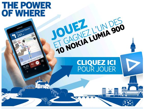 Gagnez 10 Lumia 900 avec Navteq Maps