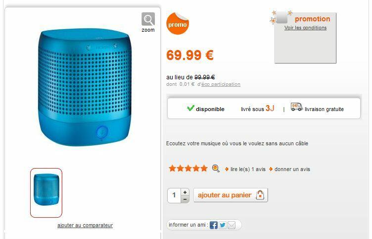 Enceinte bluetooth Nokia Play 360 pour moins de 70€