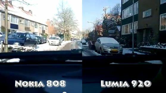 Test vidéo : 808 Pureview vs Lumia 920