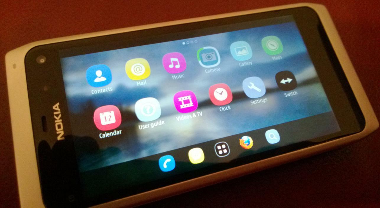Pré-version de MeeGo-Harmattan sur un prototype du Nokia N950